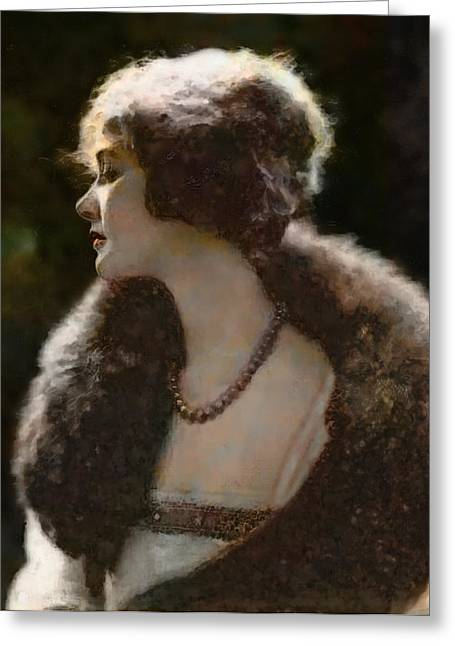 Elsie Ferguson Greeting Card by David Blank