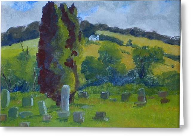 Elton Cemetary Greeting Card by Philip Hewitt