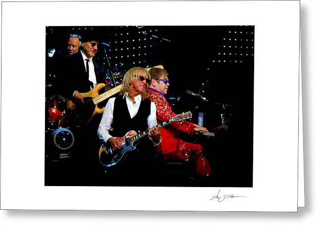 Elton John   Greeting Card by Glenn Grossman