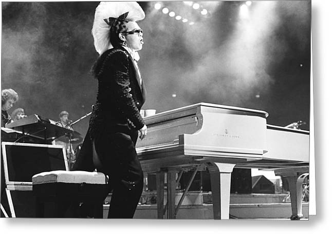 Elton John '86 Greeting Card by Chris Deutsch