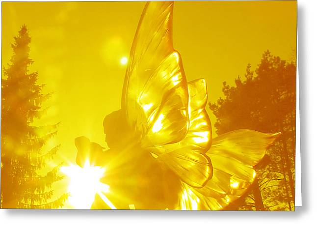Elve Of Light Greeting Card by Ramon Labusch