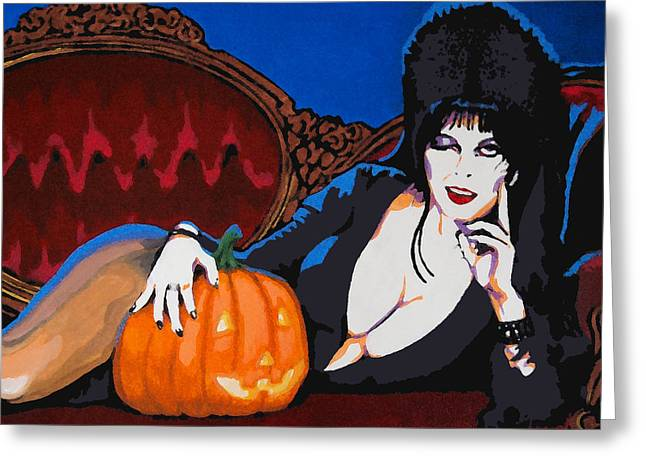 Elvira Dark Mistress Greeting Card