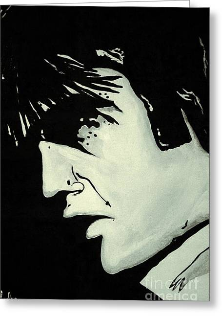 Elvis.     The King Greeting Card by Saundra Myles