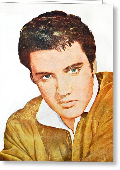 Elvis Colored Portrait Greeting Card