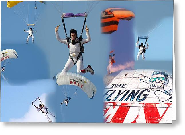 Elvis In The Sky Greeting Card