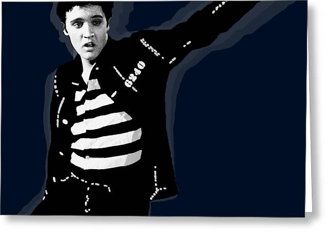 Elvis Jailhouse Rock Greeting Card by Tony Rubino
