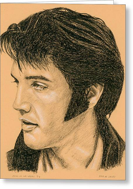 Elvis Las Vegas 69 Greeting Card by Rob De Vries