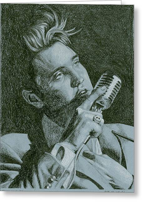 Elvis Live '56 Greeting Card by Rob De Vries