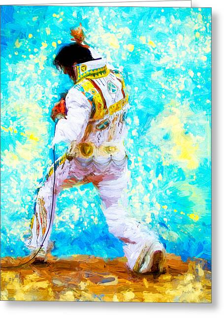 Elvis Live Greeting Card by Bob Orsillo