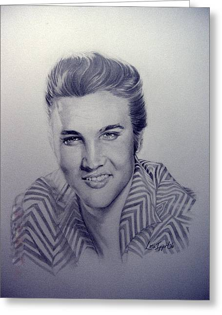 Elvis Greeting Card by Lori Ippolito