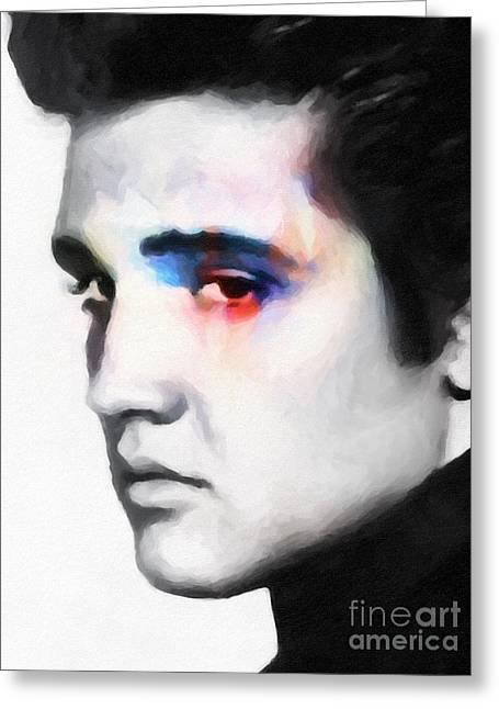 Elvis Greeting Card by Lutz Baar