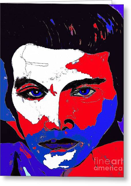 Elvis Made In The U S A Greeting Card by Saundra Myles