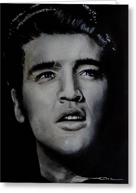 Greeting Card featuring the painting Elvis- Mississippi Trucker by Eric Dee