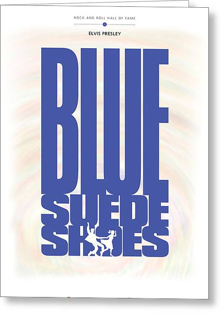 Elvis Presley - Blue Suede Shoes Greeting Card