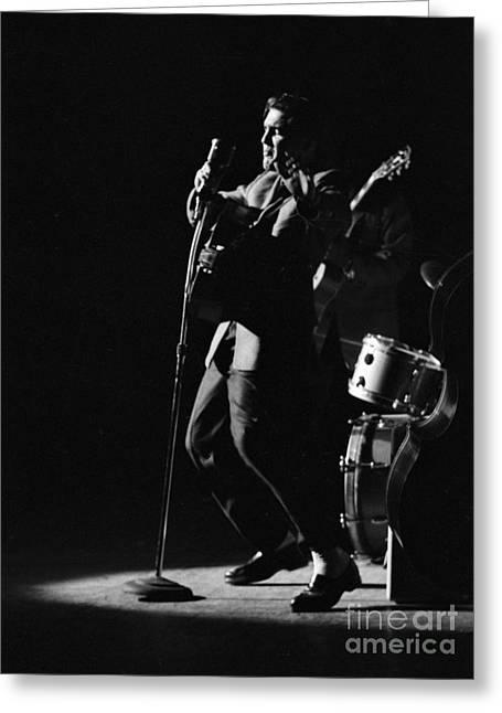Elvis Presley In Detroit 1956 Greeting Card