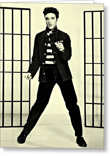 Elvis Presley Jailhouse Rock Greeting Card by Movie Poster Prints