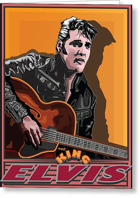 Elvis Presley Greeting Card by Larry Butterworth