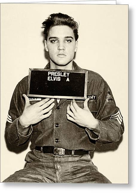 Elvis Presley - Mugshot Greeting Card