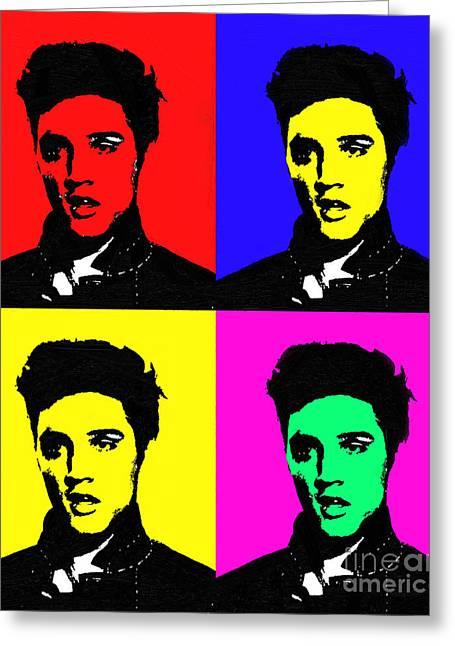 Elvis Presley - Painted Greeting Card by Doc Braham
