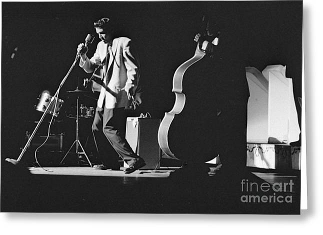 Elvis Presley Performing At The Fox Theater 1956 Greeting Card