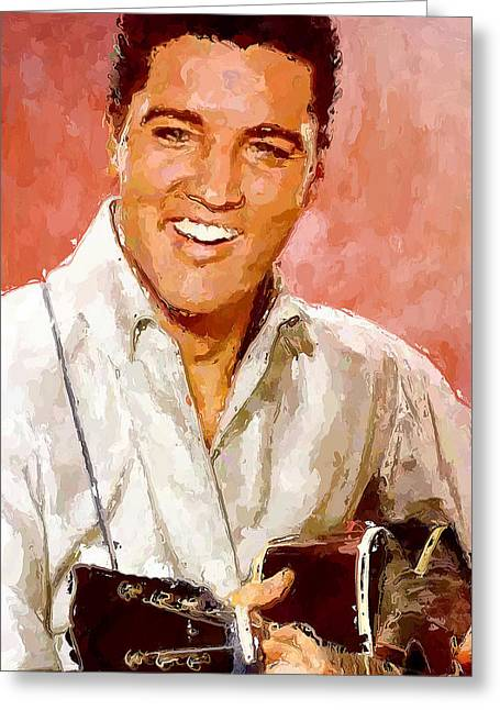 Elvis Singing 3 Greeting Card by Yury Malkov