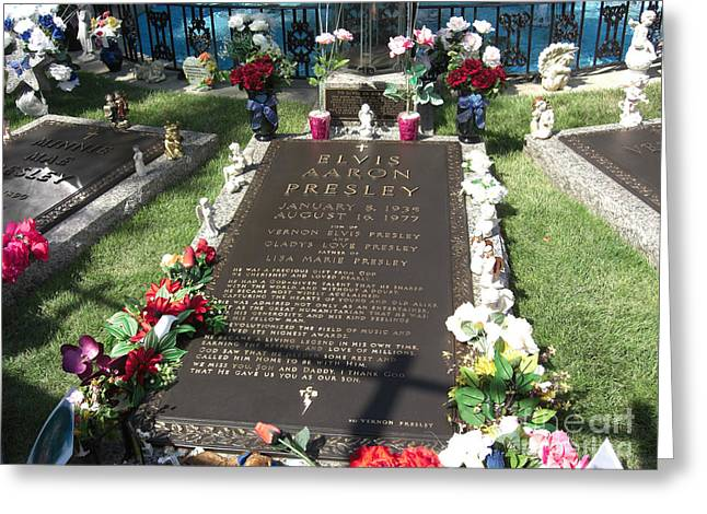 Elvis's Grave Greeting Card