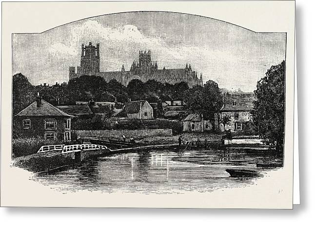 Ely Cathedral, From The River Greeting Card