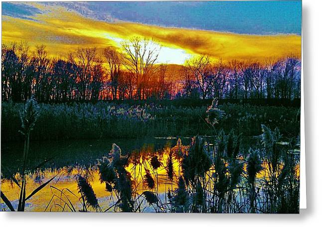 Greeting Card featuring the photograph Emagin Sunset by Daniel Thompson