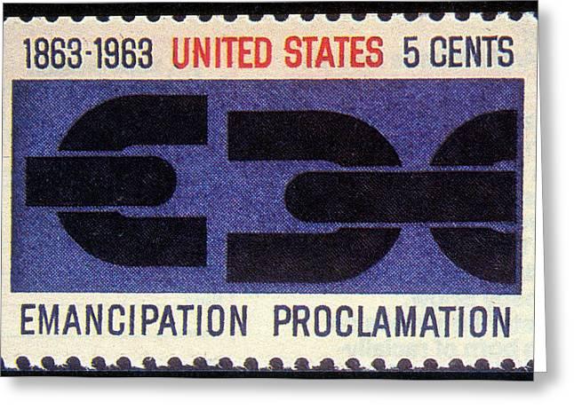 Emancipation Proclamation, Us Postage Greeting Card