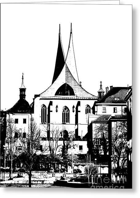 Emauzy - Benedictine Monastery Greeting Card by Michal Boubin