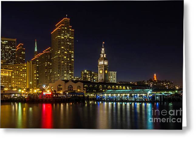 Embarcadero Blue Hour Greeting Card