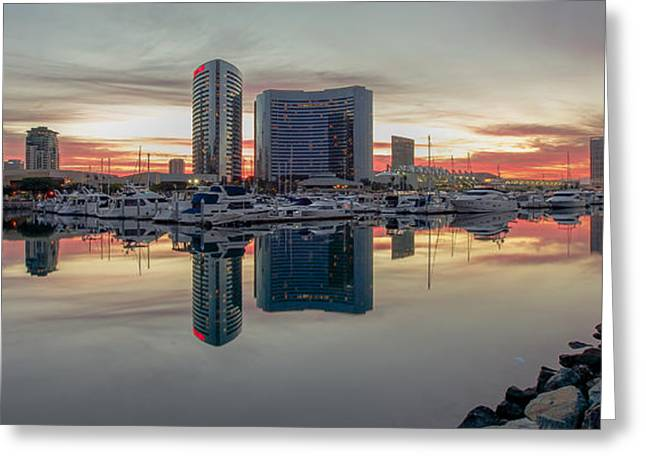 Embarcadero Marina Sunrise Greeting Card by Robert  Aycock