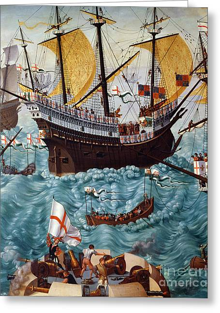 Embarkation Of Henry Viii Greeting Card by Friedrich Bouterwek