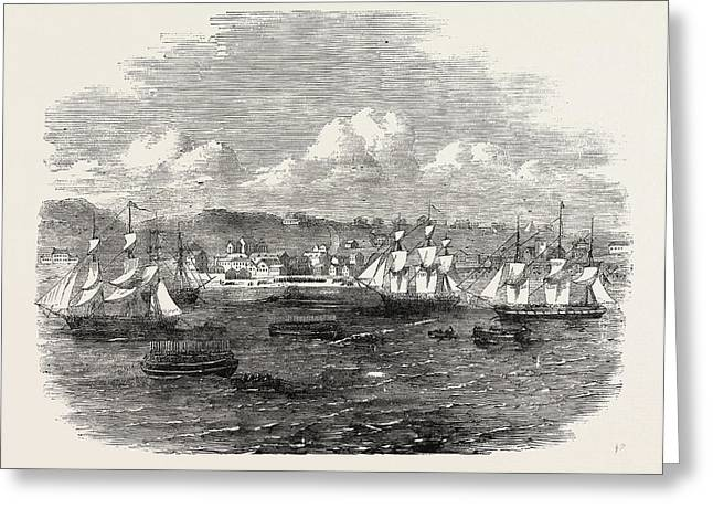 Embarkation Of The 13th Or Prince Alberts Light Infantry Greeting Card by English School