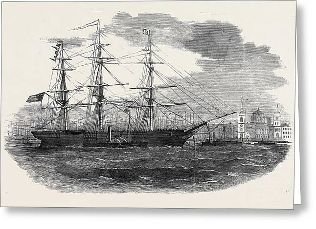 Embarkation Of The 3rd Regiment Of Lancashire Militia Greeting Card