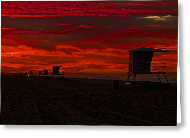 Greeting Card featuring the photograph Embers Of Dawn by Duncan Selby