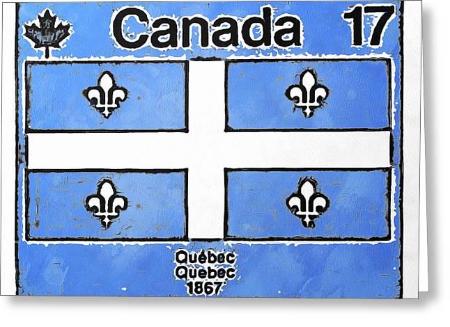 Emblem Du Quebec Greeting Card by Mario Carini
