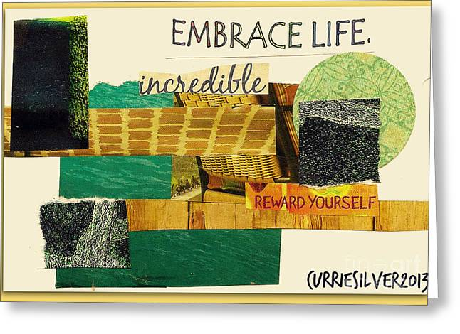 Embrace Greeting Card by Currie Silver
