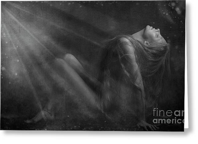Embraced By The Light.. Greeting Card by Nina Stavlund