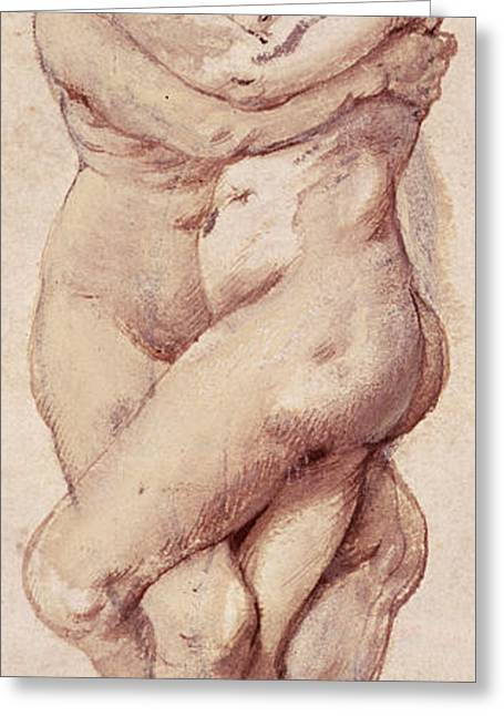 Embracing Couple Greeting Card by Rubens