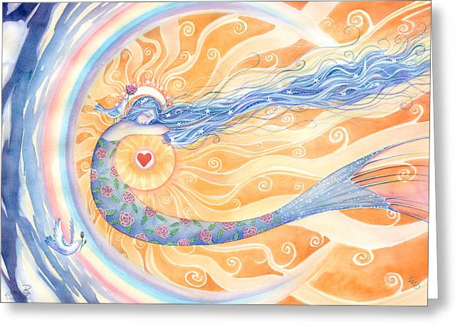 Embracing Love Greeting Card by Sara Burrier