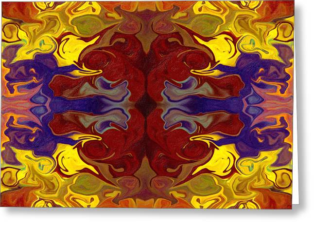 Embracing Transition Abstract Healing Artwork Greeting Card by Omaste Witkowski
