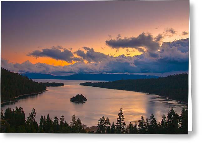 Emerald Bay Before Sunrise Greeting Card by Marc Crumpler