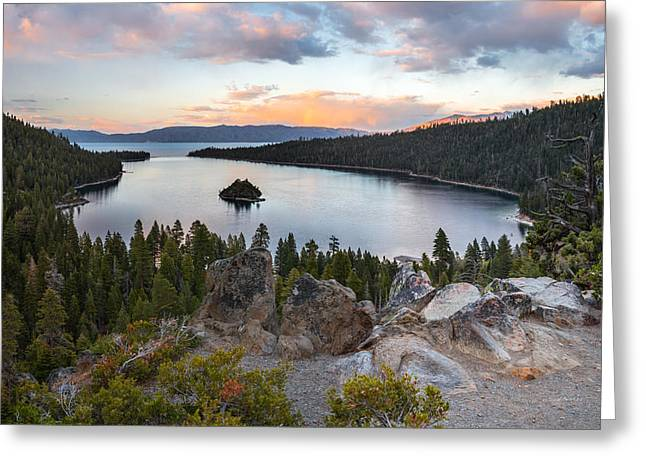 Emerald Bay Lake Tahoe Greeting Card by Leland D Howard