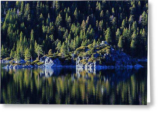 Emerald Bay Teahouse Greeting Card by Sean Sarsfield