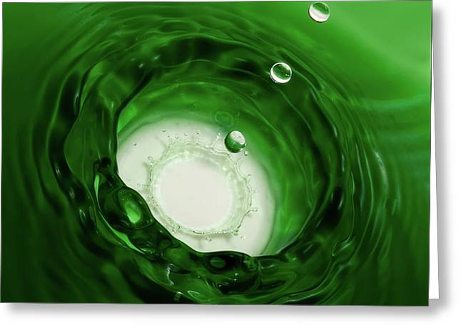 Emerald Drops Greeting Card