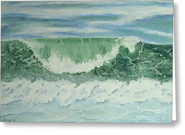 Emerald Green Greeting Card by Stanza Widen