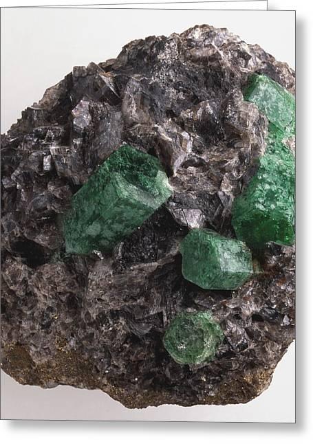 Emerald In Rock Groundmass Greeting Card