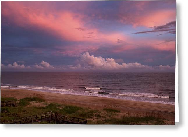 Emerald Isle Sunset Greeting Card