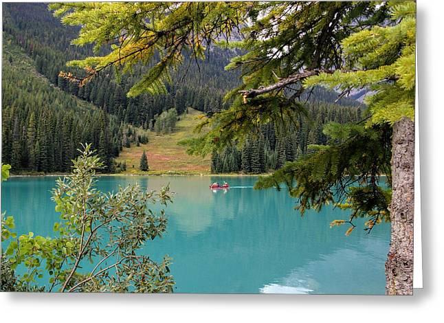 Emerald Lake British Columbia Greeting Card by Lynn Bolt